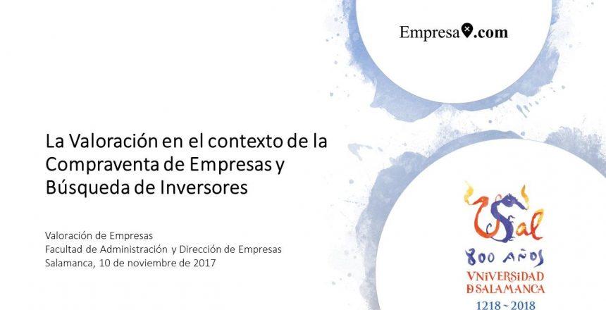 Empresax.com - La Valoración en el contexto de la Compraventa de Empresas