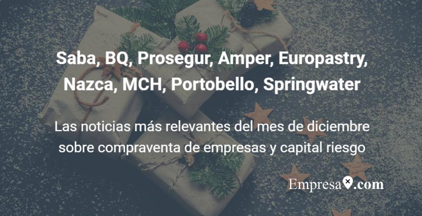 Empresax.com Nazca, Permira, BQ, Saba, Portobello, MCH